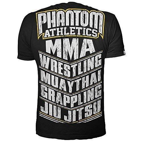 Phantom mma T-Shirt MMA Sports - Black/Yellow - MMA Shirt,Kampfsport Shirt,Freizeit Shirt,Sport Shirt (S)