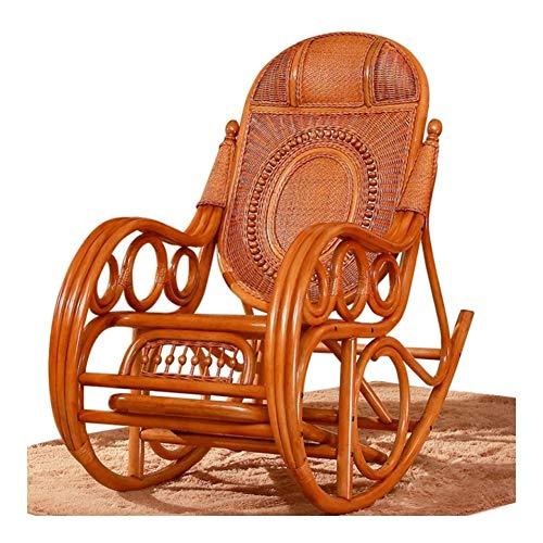 Muebles para el Hogar Silla cómoda meditación al aire libre Mecedora de mimbre, ratán Silla del...