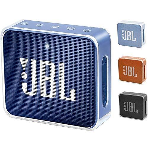 Funda Pushingbest JBL GO 2, Funda de TPU Carry Bag para JBL Go 2 Altavoz Bluetooth [Impact Resistant] [Easy to Carry] (Transparente)