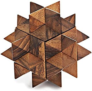 MONKEY POD GAMES Giant Star Puzzle - Extra Large Wooden Brainteaser