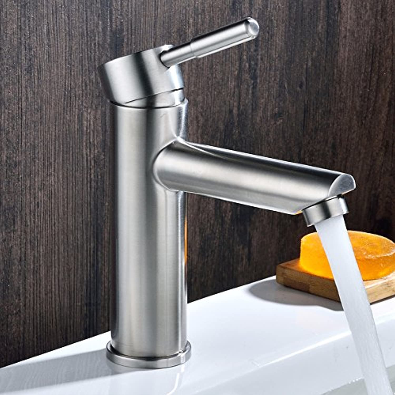 Aawang Basin Sink Mixer Tap Bathroom Faucet 304 Stainless Steel Faucet Lead Free