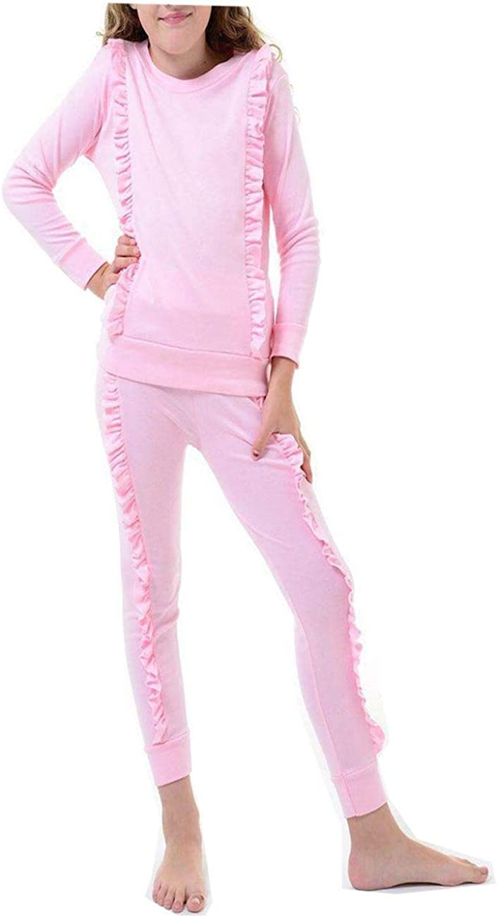 Ladies Women/'s Ruffle Frill Gold Button Co ord Lounge Set Tracksuit UK 8-14