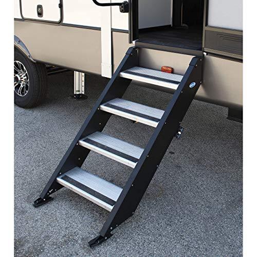 MORryde STP-4-27-05H StepAbove 4-Step RV Entry Folding Step, 26-28' Door Width