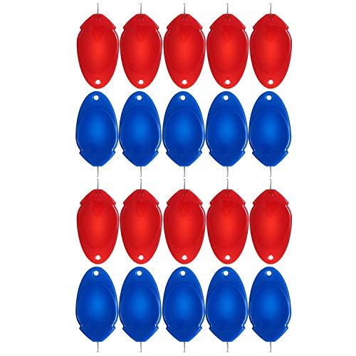 genenic Nadeleinfädler Einfädelhilfe, 20er Automatische Nadel Einfädln Set, zum Nähen für Nähmaschinen und Hand Kunststoff DIY einfache Nähwerkzeug, Handnadeln Nähnadeln(Rot, Blau)