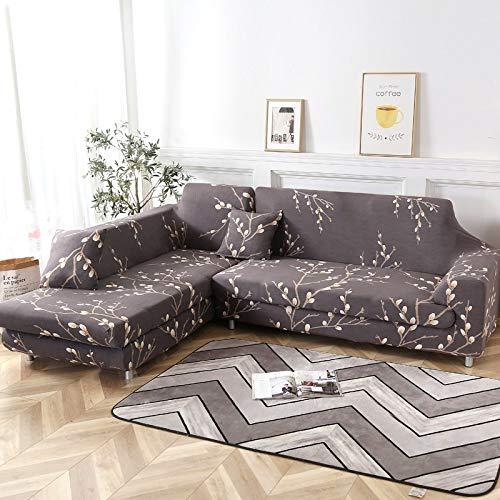 WXQY Wohnzimmer Kombination Sofa Schutzhülle L-förmige Ecke elastische Sofa Schutzhülle Geometrisches Muster Sofabezug A16 1-Sitzer