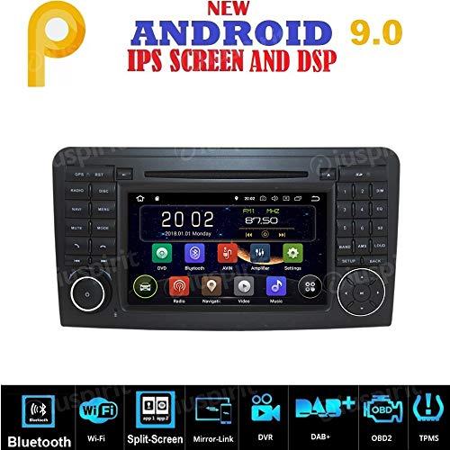 ANDROID 9.0 GPS DVD USB SD WI-FI Bluetooth autoradio 2 DIN navigatiesysteem geschikt voor Mercedes ML W164 / ML300 / ML350 / ML450 / ML500 / Mercedes GL X164 / GL320