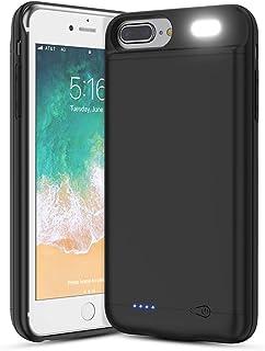 Vancely Funda Batería para iPhone 8 Plus/7 Plus/6S Plus/6 Plus 7000mAh Funda Cargador Portatil para iPhone 8 Plus/7 Plus/6S Plus/6 Plus Recargable Batería Externa Carcasa Batería [5.5'']