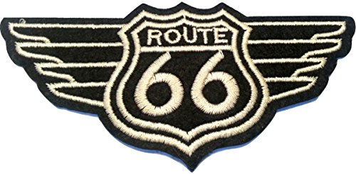 Patch escudo Patches Bordado escudo termoadhesiva Vintage Route 66 USA 9 CM