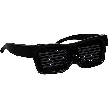 Suncentech Dynamische Led Brillen Usb Drahtlose Led Leuchten Brillen Neuheit Party Dekoration Glowing Beleucht Brillen Blau Amazon De Spielzeug