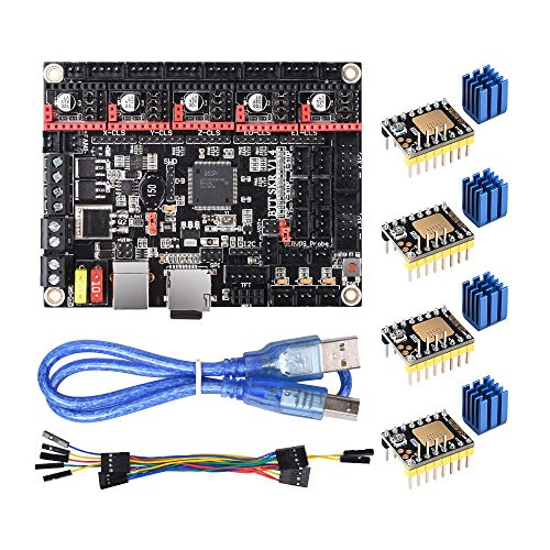 BIQU DIRECT 3D Printer Part SKR V1.4 32-bits control card smoothieboard & Marlin Open Source SKR V1.3 Upgrade Support TMC2209/TMC2208/TMC2130/A4988/8825/Stepper Motor Driver (SKR V1.4), SKR V1.4 Turbo with TMC2130 SPI, 1