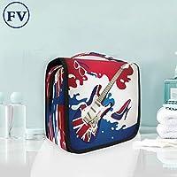 UKギターぶら下げ折りたたみトイレタリー化粧品化粧バッグ旅行キットオーガナイザー収納ウォッシュバッグケース用女性女の子浴室