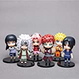 FJKYF Modelo De Anime6 Unids/Lote Japón Comics Naruto Figuras De Acción Kakashi Sakura Sasuke Itachi Obito Gaara PVC Juguetes Modelo Figurita 9.5Cm