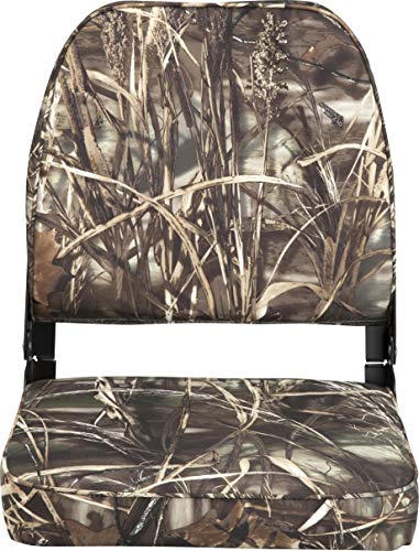 attwood 98395CAMO Low Back Fishing Seat - Camo