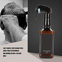 スプレーボトル、ヘアツール、理髪店の水噴霧器、ユニークなボトルのデザイン、ボトル、サロン用ホーム用(brown)