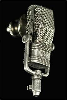 44BX Ribbon Microphone Pin - Pewter