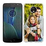 SHUMEI Coque personnalisée pour Motorola Moto G5 Plus, photo personnalisée absorption des chocs...