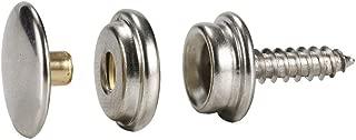 63Pcs Stainless Steel Fastener Screw Snap Kit in Storage Box, Marine Grade, 3/8