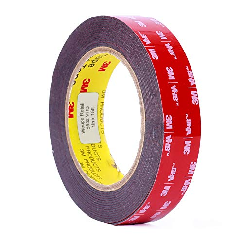 3M Scotch 5952 VHB Tape: 2.5cm . x 15 ft. (Black)