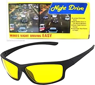 Wrath Day and HD Night Vision Anti-Glare UV Protected Unisex Sunglass for Car Drivers