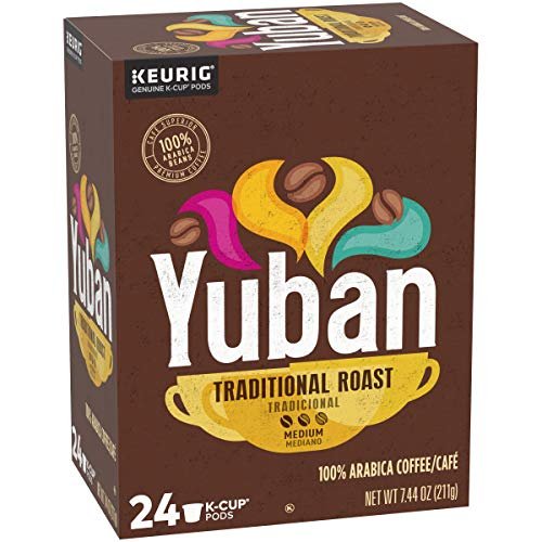 Yuban K Cups Traditional Medium Roast Coffee Pods, 24 count