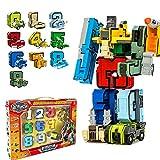 Redcolourful 0-9 Anzahl Bausteine Verformung Roboter Spielzeug Montage Puzzle Kinder Weihnachten Geburtstagsgeschenk -