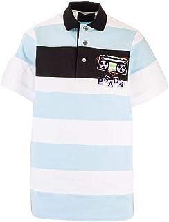 PRADA Luxury Fashion Mens UJN640S2011WB8F0UB3 Light Blue Polo Shirt | Spring Summer 20