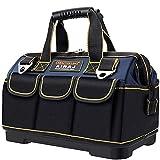 AIRAJ 45 × 25 × 29cm wasserdichte Werkzeugtasche,Mit ABS-Basis und verstellbarem Schultergurt,Große Werkzeugtasche mit festem Boden,Professionelle Werkzeugtasche,Für alle Personen geeignet