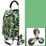 Gib niemals auf Faltwagen des Aluminiums des Trolleygepäckes faltender faltender Reiseeinkaufs-Supermarkt-Einkaufswagen (Color : Green)