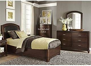Amazon.com: Black - Leather / Bedroom Sets / Bedroom ...