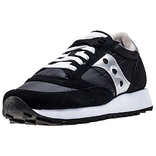 Saucony Jazz Original-W, Zapatillas para Mujer, Negro (Black/Silver), 37 EU