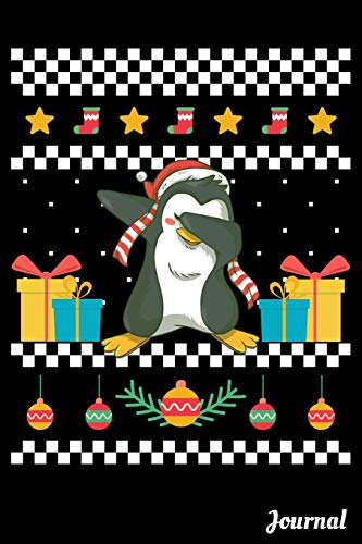 Journal: 120 Blank Lined Pages - 6' x 9' Notebook With Funny Dabbing Christmas Penguin Print On The Cover