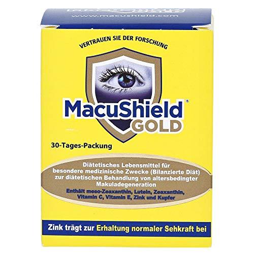 MacuShield GOLD diabetisches Lebensmittel bei AMD zur Ernährung, ergänzend, neue Formel 90 Kapseln