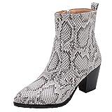 Botas Altas para Mujer de Invierno Zapatos de Tacón Alto Zapatos con Cordones de Cuero Botines Mujer Tacon Plataforma Zapatos Cremallera Bota Corta riou