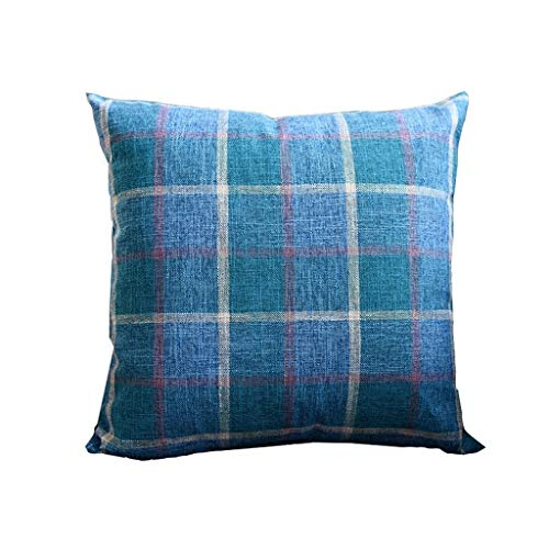 Auto lumbale kussen Plaid Fabric Soft decoratieve Plein Kussen Kussen for Sofa Bedroom Car Sierkussen grote kussen (Color : A)