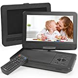 Portable DVD Player 12.1' with 10.1' HD Swivel Display Screen, 5 Hour Rechargeable Battery, Portable DVD Player for Kids, Supports SD Card/USB/CD/DVD/Sync TV, with Extra Headrest Mount Case