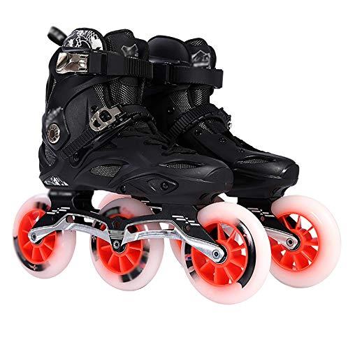Patines En Línea Zapatos De Carreras Profesionales para Adultos Patines para Damas Neumáticos De Alta Elasticidad Resistentes Al Desgaste Cuchillas De Rodillo Malla Transpirable Hebilla Automática 3
