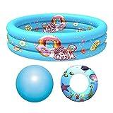 Mokylor Piscina inflable para niños, piscina para bebés, piscinas redondas de 35 pulgadas, piscina para explotar, piscina al aire libre, centro de natación con una bola de océano y anillo de natación