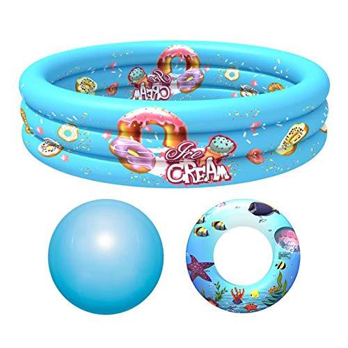 JYCAR Piscina inflable, bañera redonda inflable de verano para niños, bañera de ducha portátil de viaje, piscinas espesadas sobre el suelo (51 x 11.8 pulgadas)