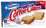 New from Hostess Brands! Cream Cheese Coffee Cakes Made With Real Cream Cheese In The Batter! 8 Individually Wrapped Snack Cakes per Box Great Morning or Anytime Snack - Perfect with Coffee or Tea