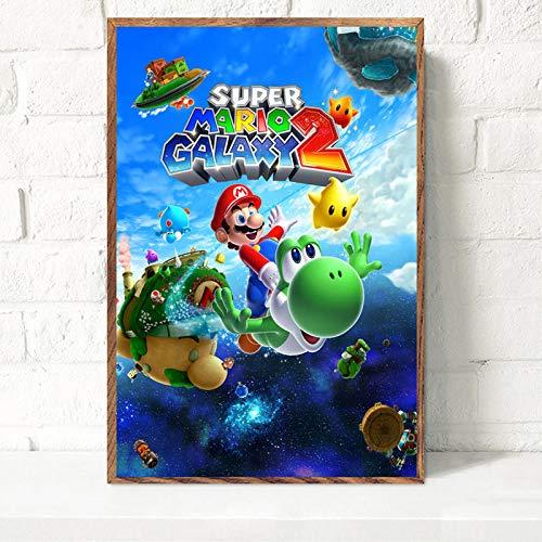 Super Juego de Dibujos Animados Hot Art Canvas Poster Wall Home Decoration,Pintura sin Marco,40X60cm