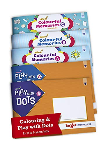 Nurture Colouring and Join the Dots and Color Books for Kids   3 to 6 Year Old   3 Colourful Memories Theme based Books along with 2 Play with Dots Fun Activity Books for Children   Set of 5 Books
