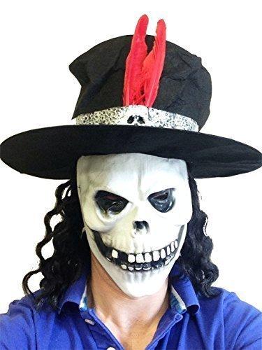 Rubber Johnnies TM Slash Style crâne Latex Masque avec Chapeau Guns Roses Fancy Dress Stag Party