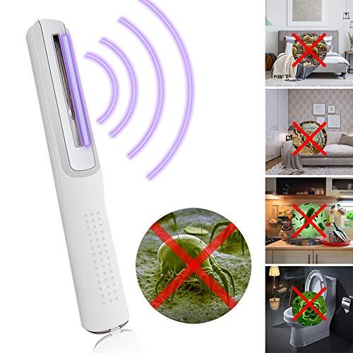 GT-LYD UV-desinfectielamp, beschermend oog en met USB opladen UV Sanitizer Wand voor Hotel Huishoudelijke garderobe Toilet Auto Huisdier gebied (wit)