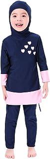 Muslim Swimsuits for Girls Kids Islamic Swimwear Burkini Full Cover Hijab Top Pants Swim Costume Beachwear Bathing Suit