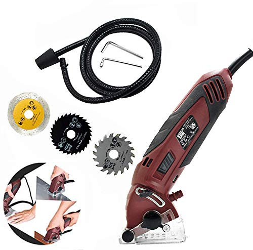 Mini Circular Saw Set,400W Multi-Function Professional Compact Circular Saw with 3 Carbide Tipped Blade,Precision Circular Saw DIY Projects for Wood, Metal, Drywall,Tile and PVC Plastic