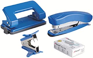 Rexel Mini Stapler and Hole Punch Set, Staple 15 Sheets, Punch 8 Sheets, Includes 1000 26/6 Staples and Stapler Remover, A...