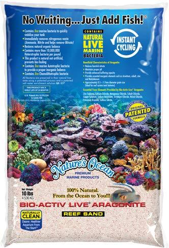 Nature's Ocean Bio Activ Live Aragonite Aquarium Sand- Pink Reef Sand 20 LB.