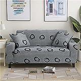 MKQB Funda de sofá elástica geométrica, Funda de protección de Muebles Antideslizante para Sala de Estar Moderna, Funda de sofá de Esquina en Forma de L NO.8 4seat-XL- (235-300cm)