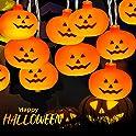 Homemory 9.8ft 20-LED Halloween Pumpkin String Lights (Orange)