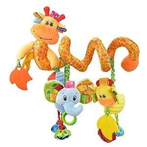 Happy Cherry – Juguetes Colgantes Espiral de Animales para Cuna Cochecito Carrito bebés Recien nacidos Peluche con…